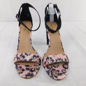 Torrid Navy Pink Block Heels SIze 12W